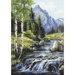 ZN 10453 Cross stitch tapestry kit - Mountain view