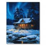 PC4050791 Painting by numbers - Forest cottage in winter