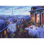 MER K-188 Cross stitch kit - Paris evening deja vu