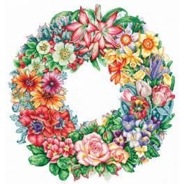 SANT-15 Cross stitch kit - Triumph of flowers