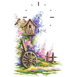 GC 10076 Cross stitch pattern - Summer clock