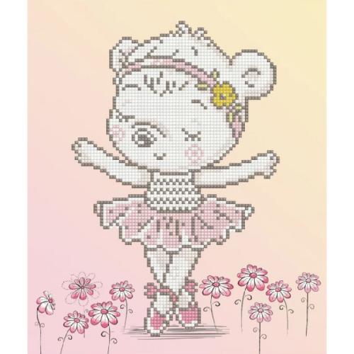 DD5.057 Diamond painting kit - Ballet bear