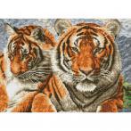 DQ10.003 Diamond painting kit - Tigers