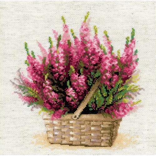 RIO 1324 Cross stitch kit with yarn - Scottish heather