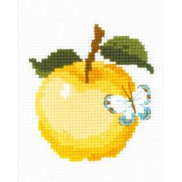 RIO HB174 Cross stitch kit with yarn - Apple