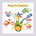 RIO 1920 Cross stitch kit with mouline - Recipe for happiness
