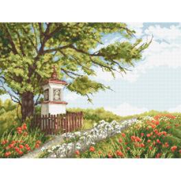 W 10332 Cross stitch pattern PDF - Roadside shrine