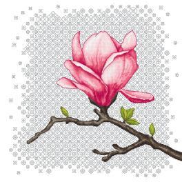 GC 10671 Printed cross stitch pattern - Charming magnolia