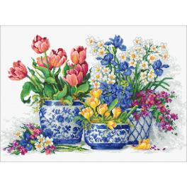 LS B2386 Cross stitch kit - Spring flowers