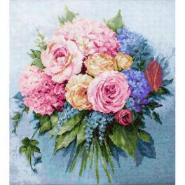 LS B2371 Cross stitch kit - Bouquet