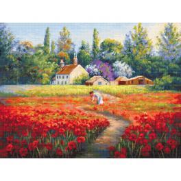 LS B607 Cross stitch kit - Not forgotten landscape