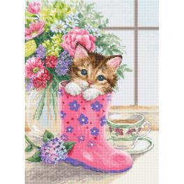 LS B2390 Cross stitch kit - Pretty kitten