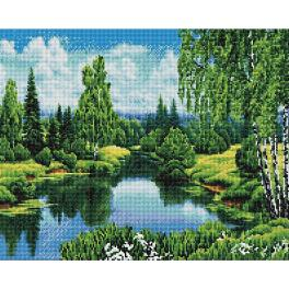 PD4050165 Diamond painting kit - Summer by the river