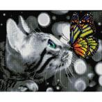 PD4050177 Diamond painting kit - Butterfly and kitten