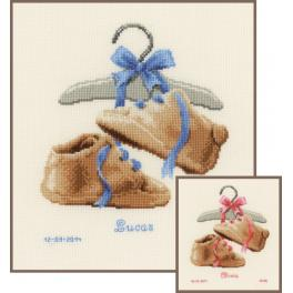 VPN-0148562 Cross stitch kit - My first shoes