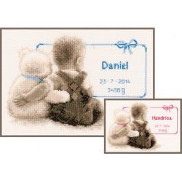 VPN-0021672 Cross stitch kit - My favorite teddy