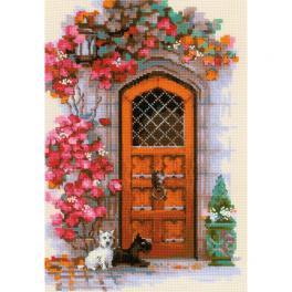 RIO 1832 Cross stitch kit with yarn - Scottish door