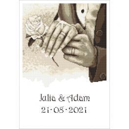 W 10340 Cross stitch pattern PDF - Wedding memory - Hands