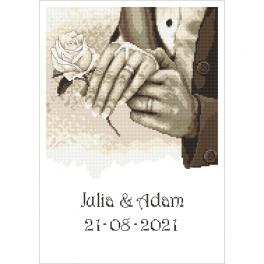 ZN 10340 Cross stitch tapestry kit - Wedding memory - Hands