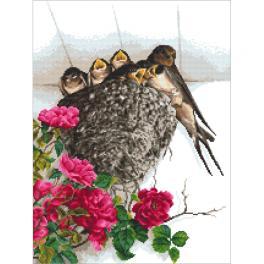 W 10336 Cross stitch pattern PDF - Swallows