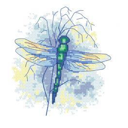 Z 10470 Cross stitch kit - Sapphire dragonfly