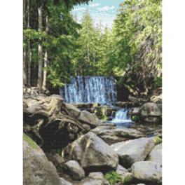 W 10683 Cross stitch pattern PDF - Wild waterfall