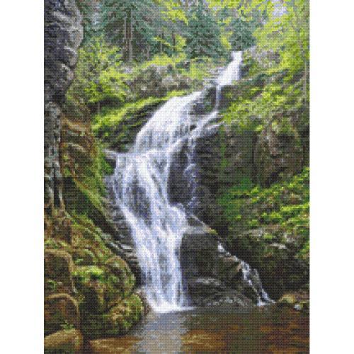 AN 10682 Tapestry Aida - Mountain waterfall