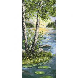 ZN 10468 Cross stitch kit with tapestry - Summer birches