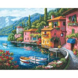 DIM 70-35285 Cross stitch kit - Houses on the shore