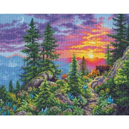 DIM 70-35383 Cross stitch kit - Sunset in the mountains