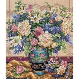 DIM 35163 Cross stitch kit - Oriental bouquet