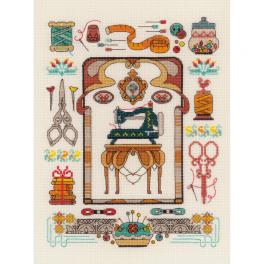 RIO 1951 Cross stitch kit with mouline - Favorite hobby