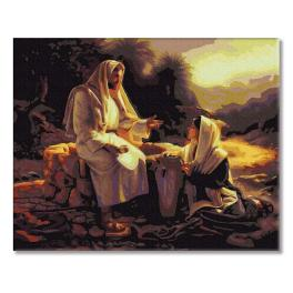 PC4050475 Painting by numbers - Jesus and the Samaritan woman