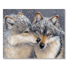 PC4050810 Painting by numbers - Love among wolves