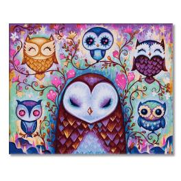 PC4050484 Painting by numbers - Fairytale owls