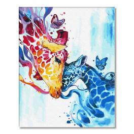 PC4050727 Painting by numbers - Colourful giraffes