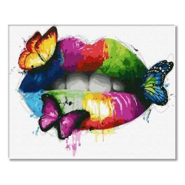 PC4050775 Painting by numbers - Colourful lips