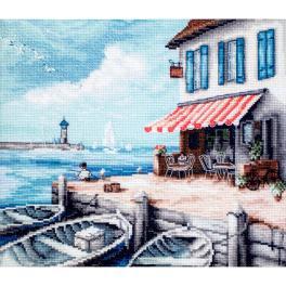 LETI 908 Cross stitch kit - Sea port