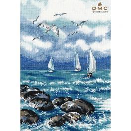 OV 1308 Cross stitch kit - Oh, the sea, the sea!
