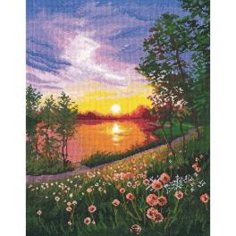 OV 1356 Cross stitch kit - Summer sunset