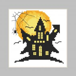 GU 10474 Printed cross stitch pattern - Postcard - Ghost house