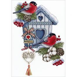 MP NV-714 Cross stitch kit - Frosty nest