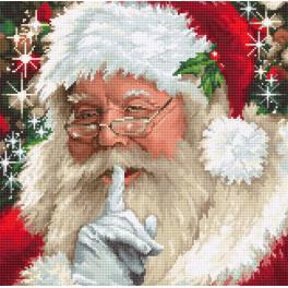LS B2398 Cross stitch kit - Santa