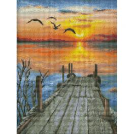 M AZ-1493 Diamond painting kit - Sunset on the lake