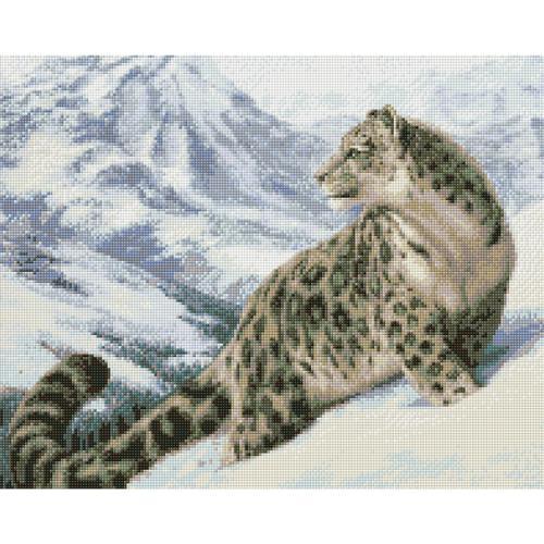 M AZ-1520 Diamond painting kit - Snow leopard