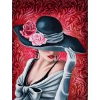 M AZ-1504 Diamond painting kit - Lady rose
