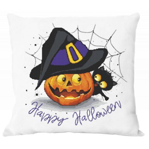 W 10475 Cross stitch pattern PDF - Cushion - Happy Halloween