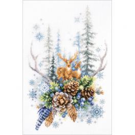 MN 200-017 Cross stitch kit - Winter forest spirit