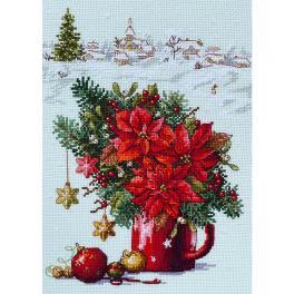 MER K-194 Cross stitch kit - Happy Holiday
